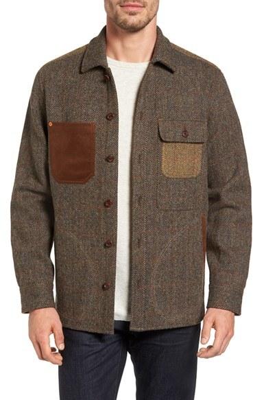 Tommy bahama men 39 s harris tweed wool shirt jacket for Best wool shirt jackets