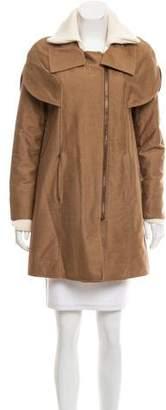 Derek Lam Padded Knit-Trimmed Jacket
