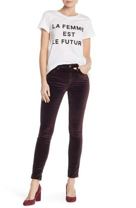 French Connection Velvet Luxe Skinny Pants