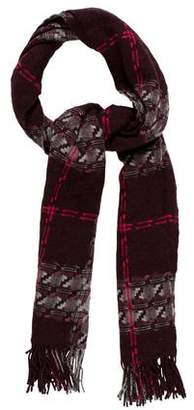 Burberry Fringe-Trimmed Wool Scarf