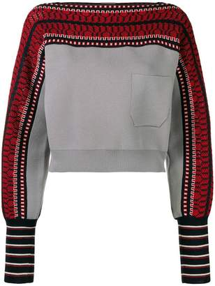 Temperley London cropped knit sweatshirt