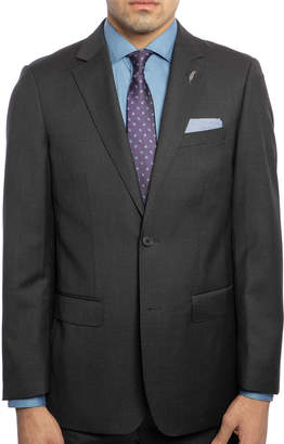 Michael Bastian Men's Slim-Fit Wool Sharkskin Two-Piece Suit with Wide Lapels, Charcoal
