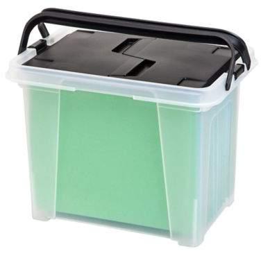 IRIS® Portable Wing-Lid File Boxes (Set of 4)