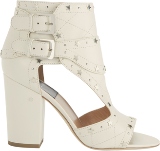 Laurence Dacade Rush Silver Stars Buckled Sandals $925 thestylecure.com