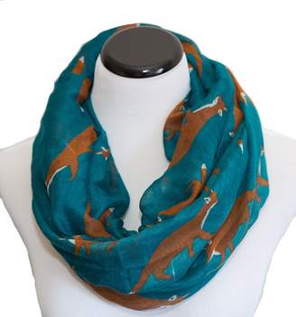 Animal Lover Let's Foxtrot Fox Print Infinity Scarf