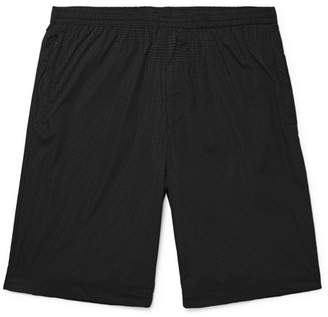Theory Dekro Reflective Printed Stretch-Nylon Drawstring Shorts - Men - Black