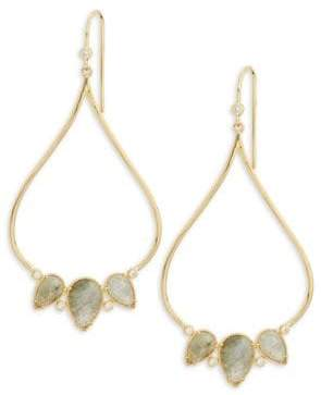 Tai Jewelry Front-Facing Rose Stone Earrings QwsZeJx5S