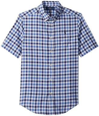Polo Ralph Lauren Plaid Performance Oxford Shirt Boy's Clothing