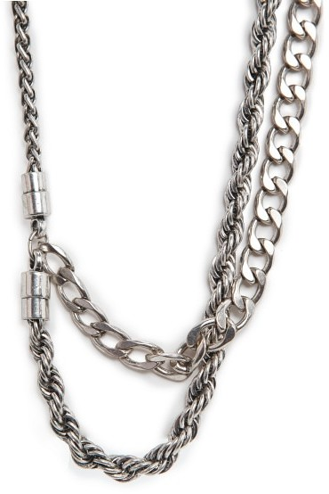 MANGO Outlet Glam Grunge Chain Necklace