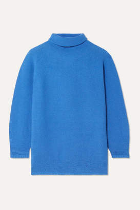 Max Mara Wool And Cashmere-blend Turtleneck Sweater - Bright blue