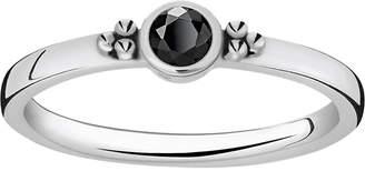 Thomas Sabo Royalty black stone sterling silver stacking ring