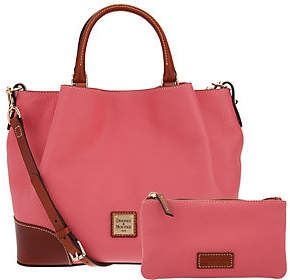 As Is Dooney & Bourke Pebble Leather Brenna Satchel $219 thestylecure.com