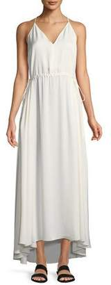 Theory Relaxed Modern Georgette Maxi V-Neck Dress