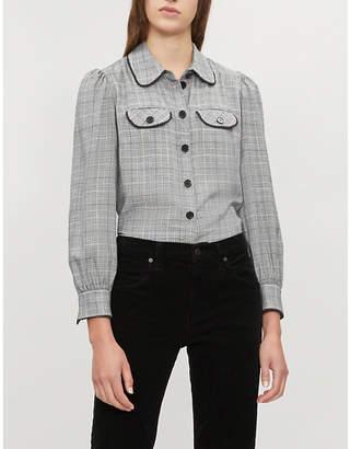 Claudie Pierlot Check-patterned flannel shirt