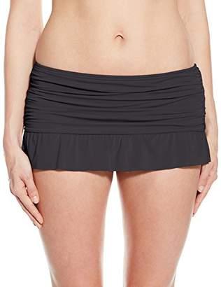 Kenneth Cole Reaction Women's Ruffle Shuffle Skirted Bikini Bottom