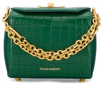 Alexander McQueen crocodile-effect Box bag