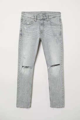 H&M Cropped Super Skinny Jeans - Gray