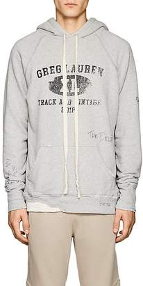 Greg Lauren Men's Distressed Cotton Terry Hoodie
