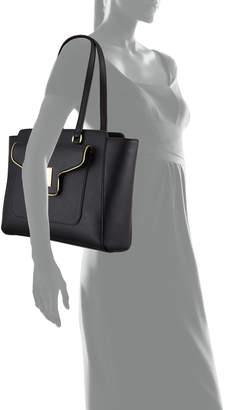 Love Moschino Metallic-Welt Shoulder Tote Bag