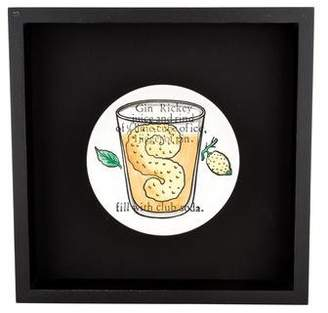 Fornasetti Piero Framed Cocktail Recipe Coaster