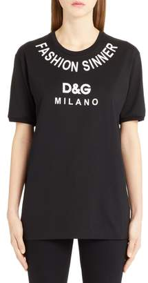 Dolce & Gabbana Fashion Sinner Graphic Tee