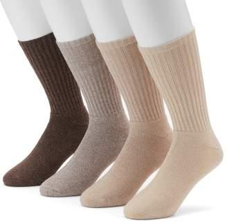 Men's Croft & Barrow® 4-pack Marled Khaki Cushioned Crew Socks $14 thestylecure.com