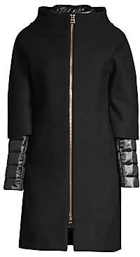 Herno Women's Zip-Front Wool Coat
