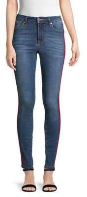Mid-Rise Skinny Track Jeans