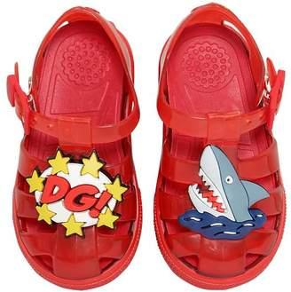 Dolce & Gabbana Shark & Logo Rubber Sandals
