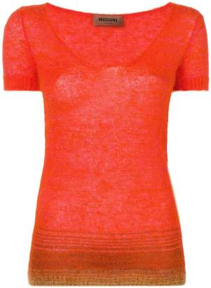 Missoni shortsleeved knit top