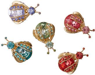 Joanna Buchanan Rainbow Mini-Bug Clip Ornaments - Gold