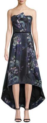 Parker Black Estelle Strapless Floral High-Low Dress