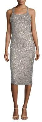 Parker Black Black Women's Sage Sleeveless Sparkle Dress - Silver - Size 2