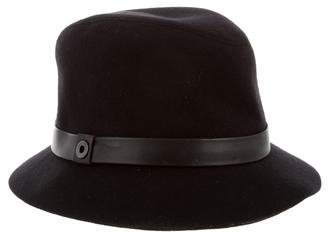 Loro Piana Leather-Trimmed Cashmere Hat