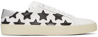 Saint Laurent Off-White Court Classic Stars Sneakers $595 thestylecure.com