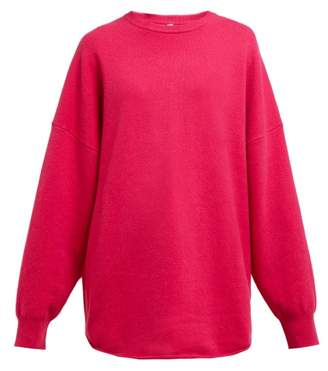 Extreme Cashmere - No. 53 Crew Hop Cashmere Stretch Sweater - Womens - Dark Pink