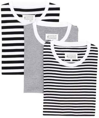 Maison Margiela horizontal striped T-shirt
