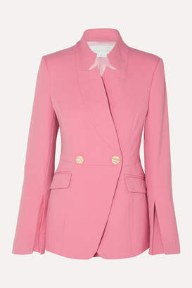 Rebecca Vallance Sienna Double-breasted Crepe Blazer - Pink