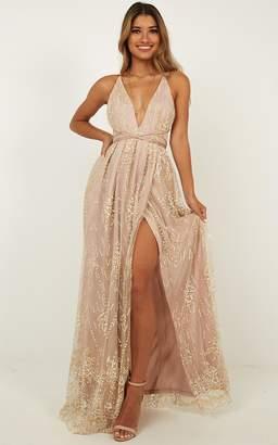 Showpo New York Nights maxi dress in gold - 6 (XS) Engagement Dresses