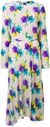 MSGM floral midi dress