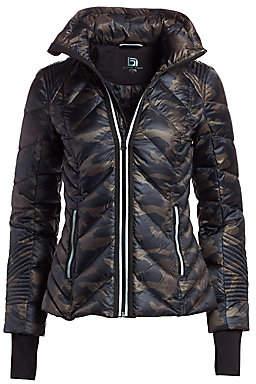 Blanc Noir Women's Reflective Detail Camo Puffer Jacket