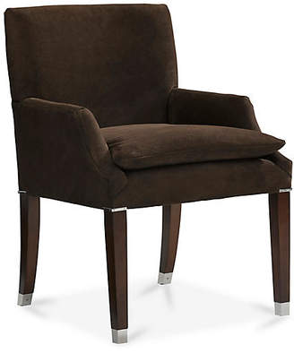 Ralph Lauren Home Lawson Desk Chair - Chocolate Suede Leather