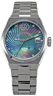 Revue Thommen Urban - Lifestyle Women's Automatic Watch with Black Dial Analogue Display and Silver Stainless Steel Bracelet 108.01.06