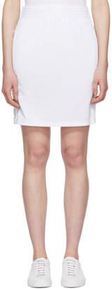 Givenchy White Logo Web Miniskirt