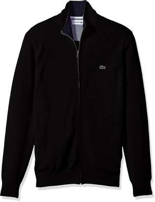 Lacoste Men's Full Zip Jersey Sweater