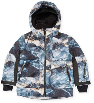 Molo Mountain Range Printed Waterproof Jacket