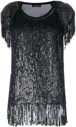 Twin-Set sequin fringed T-shirt $329.15 thestylecure.com