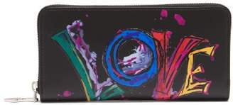 Christian Louboutin Panettone Leather Wallet - Womens - Black Multi