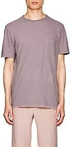 Officine Generale Men's Striped Cotton-Linen T-Shirt - Lt. Purple