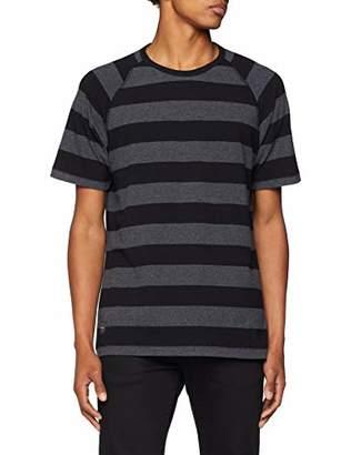 Makia Men's KEEL T-Shirt (Black-Grey 960), (Size:L)